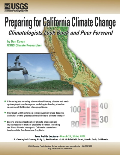 Post image for USGS public lecture on March 27 looks at California climate change
