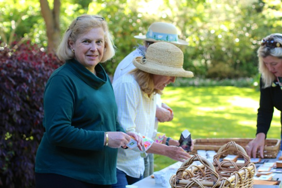 Barbara Tuffli introduces seed library to the Woodside-Atherton Garden Club's native plant sale on May 10