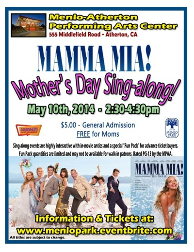 Post image for Mamma Mia! Mother's Day sing-along set for May 10