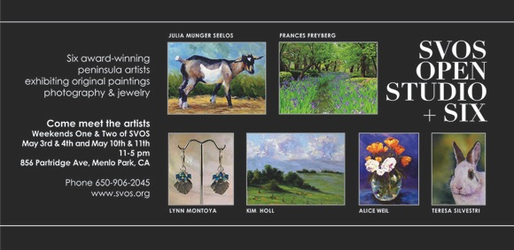 Post image for Artists exhibit in Menlo Park as part of Silicon Valley Open Studios