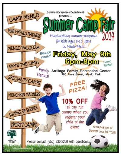 Post image for City of Menlo Park hosts summer camp fair on May 9
