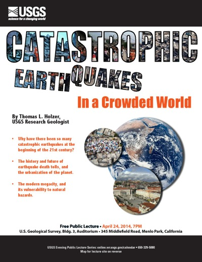 Post image for Catastrophic earthquakes is topic of free USGS evening lecture on April 24
