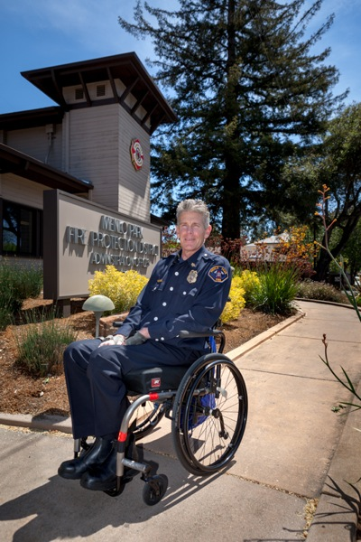 Menlo Park Fire Protection District Chief Harold Schapelhouman photographed by Scott R. Kline (c) 2014