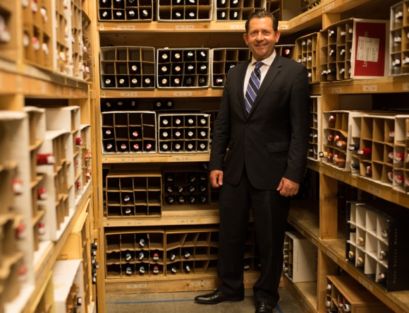 Director of Wine Paul Mekis oversees close to 2,000 bottles of wine at Madera restaurant in Menlo Park
