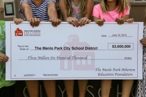 MPAEF grant check to MPCSD