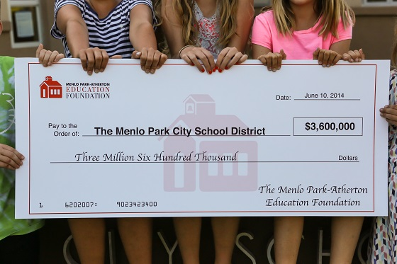 Menlo Park-Atherton Education Foundation grants $3.6 million to school district