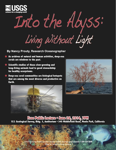 """To mark National Oceans Month, USGS public lecture looks at """"living without light"""" on June 26"""