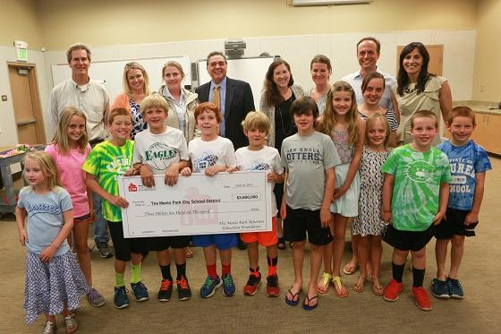 Menlo Park-Atherton Education Foundation grants $3.6 million to school district