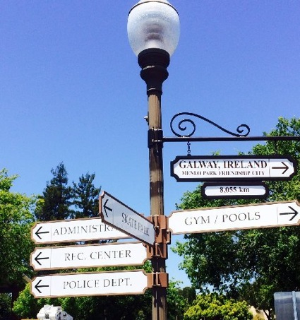 Post image for Spotted: New Galway, Ireland directional sign in Menlo Park