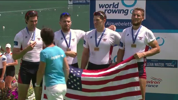 Menlo Park native competes in 2014 World Rowing Cup II at Lake Aiguebelette, France