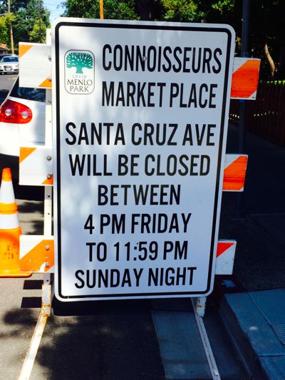 Post image for Spotted: Connoisseurs Marketplace sign – one week in advance