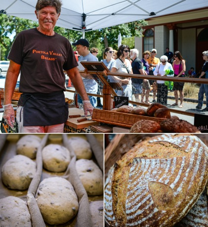 Post image for Philip Reilly bakes distinct variety of artisan breads that he sells at  Portola Valley Farmers' Market