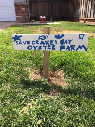 Post image for Spotted: Sign supporting Drakes Bay Oyster Co in Menlo Park front yard