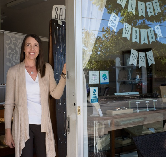 Getting up to date with Beth Philbin about her Heart on Your Wrist jewelry business