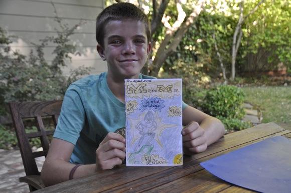 Seventh grader Jack Barry creates new Super Hero – Masked Man