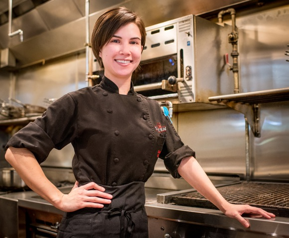 "Post image for First on stage, now in the kitchen, LB Steak Chef de Cusine Kelsey Casavan brings a ""can-do"" spirit"