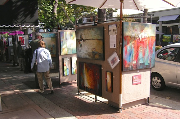Post image for Menlo Park Sidewalk Fine Arts and Crafts Fall Fest this weekend along Santa Cruz Avenue