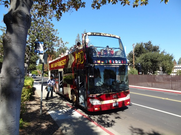 Post image for Community members tour Menlo Park atop double decker bus as part of General Plan Update