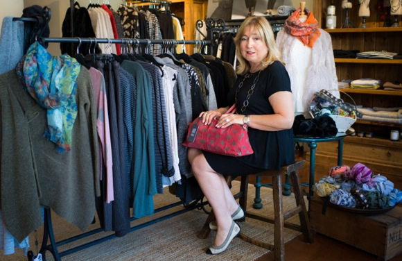 Contemporary fashions and customer care is offered by Diana Ferrari at her Menlo Park boutique Graciana