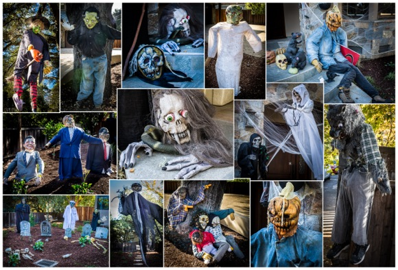 Menlo Park yards decorated to welcome trick or treaters on Halloween