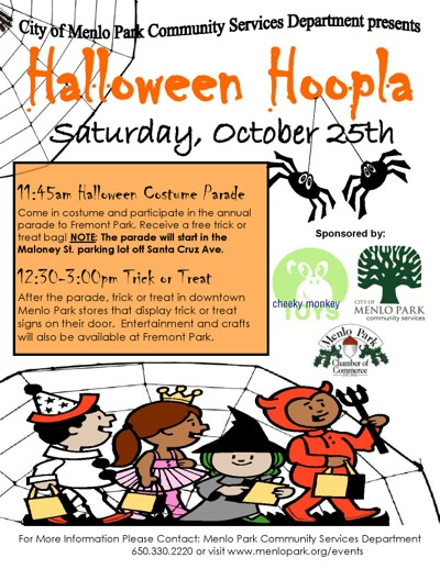 Post image for Halloween Hoopla takes place in downtown Menlo Park on Saturday, Oct. 25