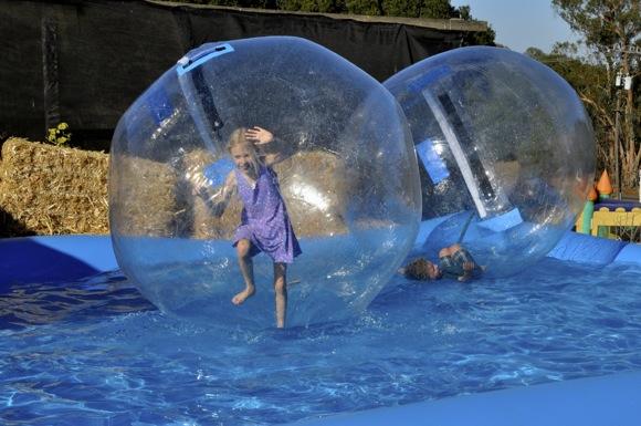 Kids in bubbles