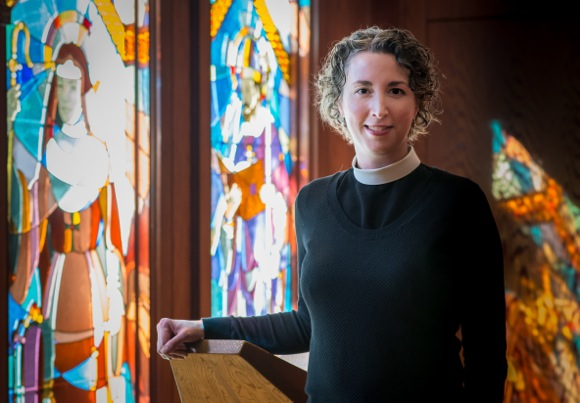 The Rev. Gia Hayes Martin, rector of St. Bede's in Menlo Park