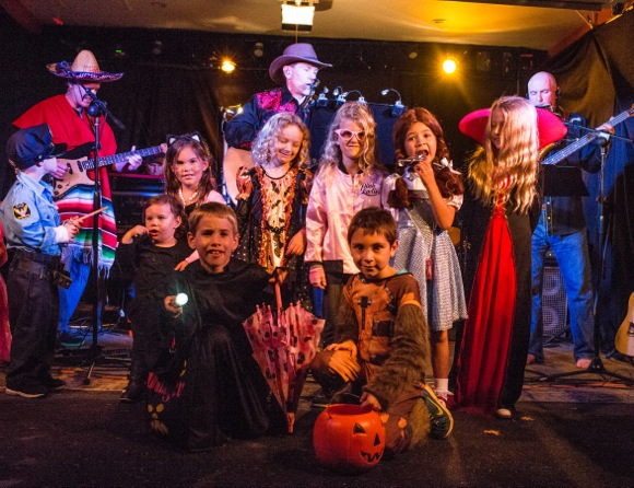 The Members band plays on Halloween in Menlo Park