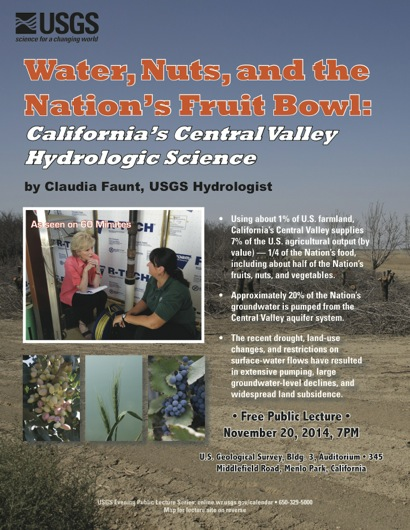 Post image for Central Valley agriculture and declining groundwater is Nov. 20 topic at USGS