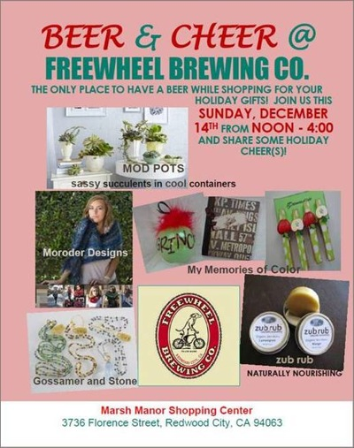 Post image for Freewheel Brewing hosts Beer & Cheer shopping event on December 14
