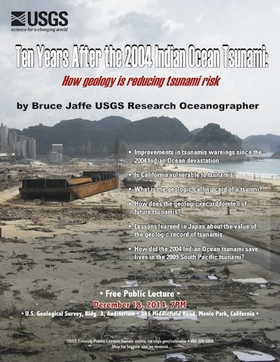 Post image for USGS public lecture on Dec. 18 looks at how geology is reducing tsunami risk