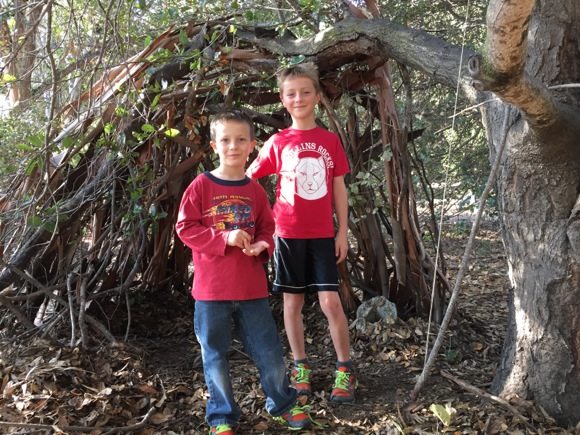 Post image for Spotted: Boys with a Thanksgiving teepee