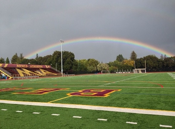 Post image for Beautiful rainbow over Menlo-Atherton High School