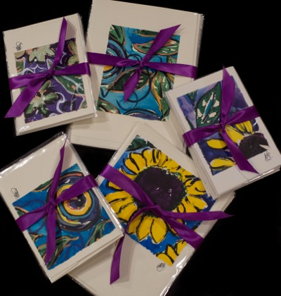 """Michele Chandler revives her """"artsy"""" self with line of handmade note cards"""