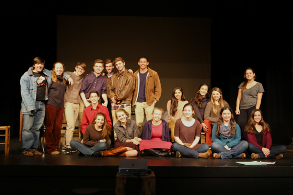 cast of The Laramie Project at Menlo School