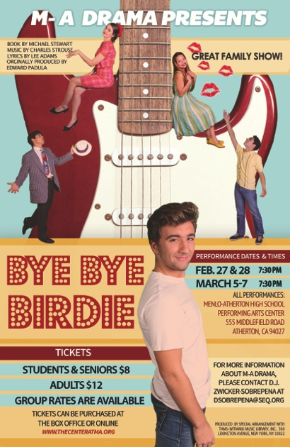 Bye Bye Birdie is Menlo-Atherton High School's winter production and this Conrad Birdie has some fun twists