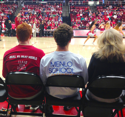 Post image for Spotted: Friendly (?) rivals court side at Stanford's Maples Pavilion