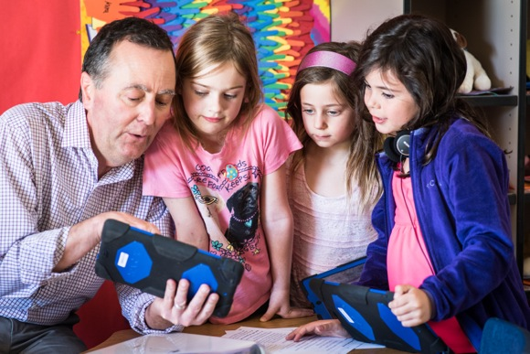 If it's Thursday, it's Coding Club day for first and second graders at Oak Knoll School