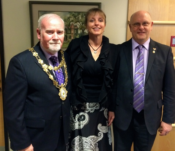 Galway City Mayor and Chief Executive visit Menlo Park as part of St. Patrick's Day tour to the states