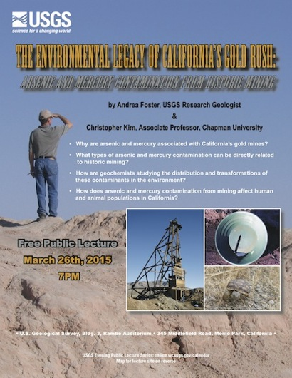 Post image for USGS evening lecture on March 26 examines environmental consequences of gold mining