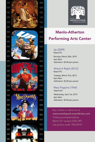 Post image for Three nights of movies at M-A Performing Arts Center, March 30-April 1