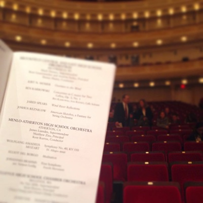 M-A Orchestra appeared at Carnegie Hall in New York Saturday night