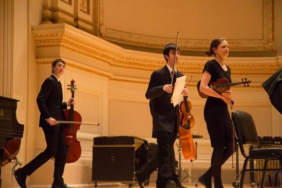 string instruments at Carnegie