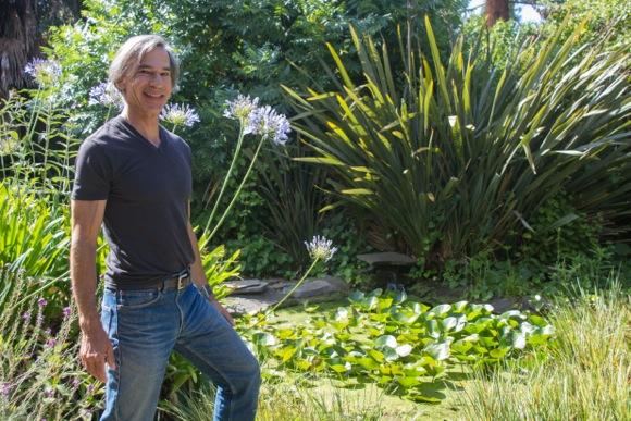 Dan Dieguez garden in Menlo Park home