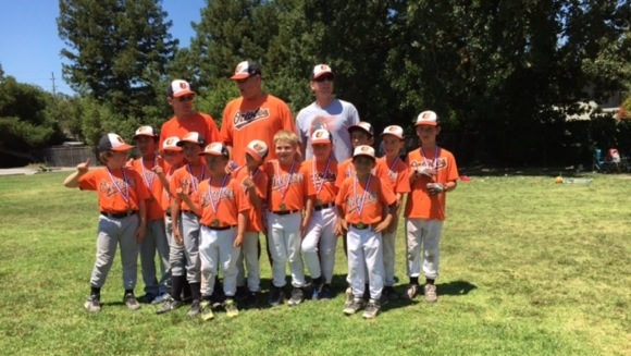Post image for Menlo-Atherton Little League AA team, the Orioles, wins championship