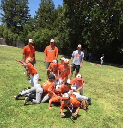 Menlo-Atherton Little League AA team, the Orioles, wins championship