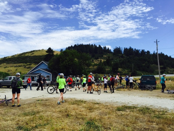 Local bicyclists view coastal farms on 20-mile POST organized ride