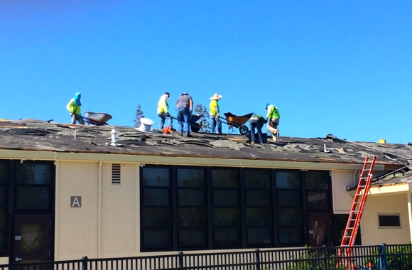 Spotted: Interesting construction at and around Oak Knoll School