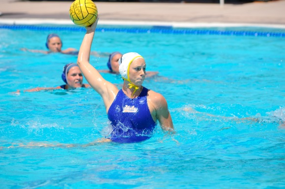 UCLA Athletics - UCLA Women's Water Polo versus the LMU Lions, Loyola Marymount Campus, Los Angeles, CA. 120415_WWP_0454.NEF April 15th, 2012 Copyright Don Liebig/ASUCLA