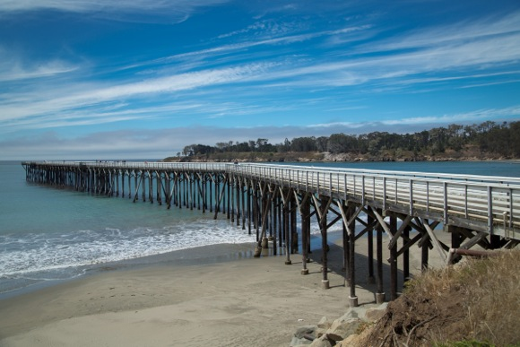 The Pier at WR Hearst State Beach near San Simeon, CA.
